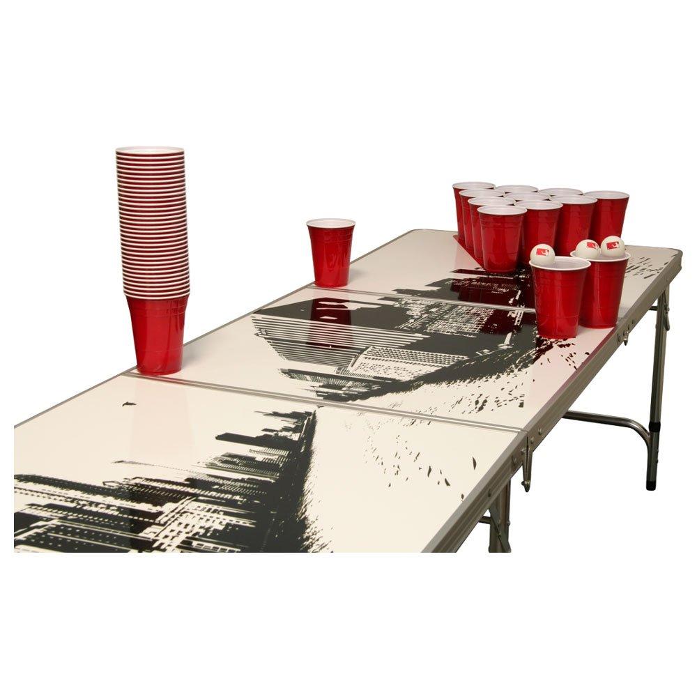 Skyline Beer Pong Tisch Set – 1 Beer Pong Tisch inkl. 50 SOLO Red Cups und 6 Bällen bestellen