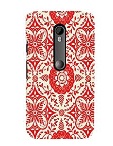 Citydreamz Traditional/Rangoli Design/Abstract Pattern/Floral Print Hard Polycarbonate Designer Back Case Cover For Motorola Moto G Turbo Edition
