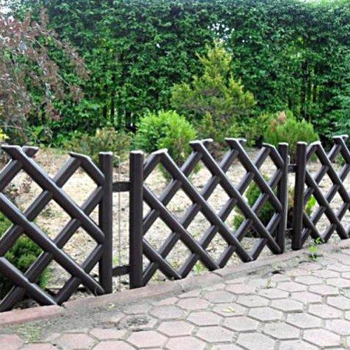 3,5 m Gartenzaun Zierzaun Jägerzaun braun Höhe mit Bodendorn 45 cm Zaun Einfriedung