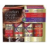 Embelleze Novex Brazilian Keratin Ultimate Replenishing System Kit 3.4 oz. Travel Size (Pack of 2)