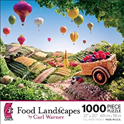 [Best price] Puzzles - Food Landscapes by Carl Warner - Cart And Balloons - toys-games