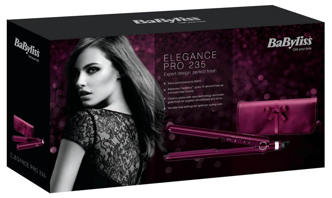 Babyliss Pro 235 Elegance Straightener package