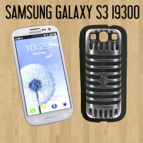 Cool Vintage Microphone Custom Made Case/Cover/Skin For Samsung Galaxy S3 - Black - Rubber Case ( Ship From Ca)