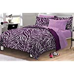 My Room Zebra Purple Ultra Soft Microfiber Comforter Sheet Set, Multi-Colored, Twin/Twin X-Large