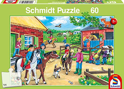 SCHMIDT Holiday at Stable Children's Puzzle (60-Piece) - 1