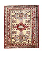 Eden Carpets Alfombra Kazak Super Rojo/Beige/Azul 125 x 102 cm
