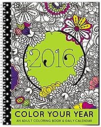 2016 Calendar - Adult Coloring Planner - Designer Organizer 8.5\