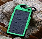 JJF Bird TM Solstar Solar Panel Charger 5000mah Rain-resistant and Dirt/shockproof Dual USB Port Portable Charger Backup External Battery Power Pack for Iphone 5s 5c 5 4s 4, Ipods(apple Adapters Not Included), Samsung Galaxy S5 S4, S3, S2, Note 3, Note 2, Most Kinds of Android Smart Phones,windows Phone and More Other Devices (Green)
