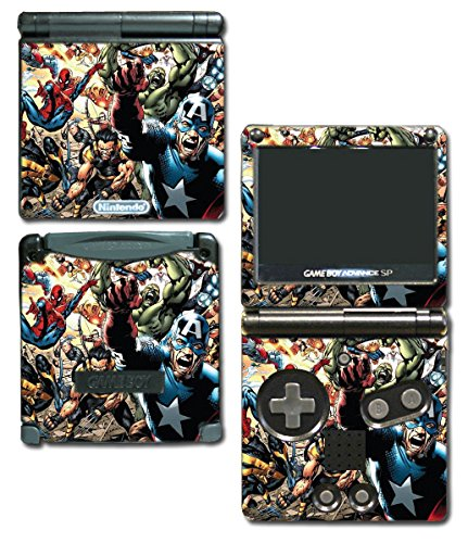 Avengers Hulk Spider-Man Captain America Iron Thor Thanos Video Game Vinyl Decal Skin Sticker Cover for Nintendo GBA SP Gameboy Advance System (Gameboy Advance Captain America compare prices)