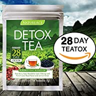 Nature Ace 28 Day Detox Tea – Best For Teatox, Body Cleanse, Bloating and Body Fat Reduction, Liver…