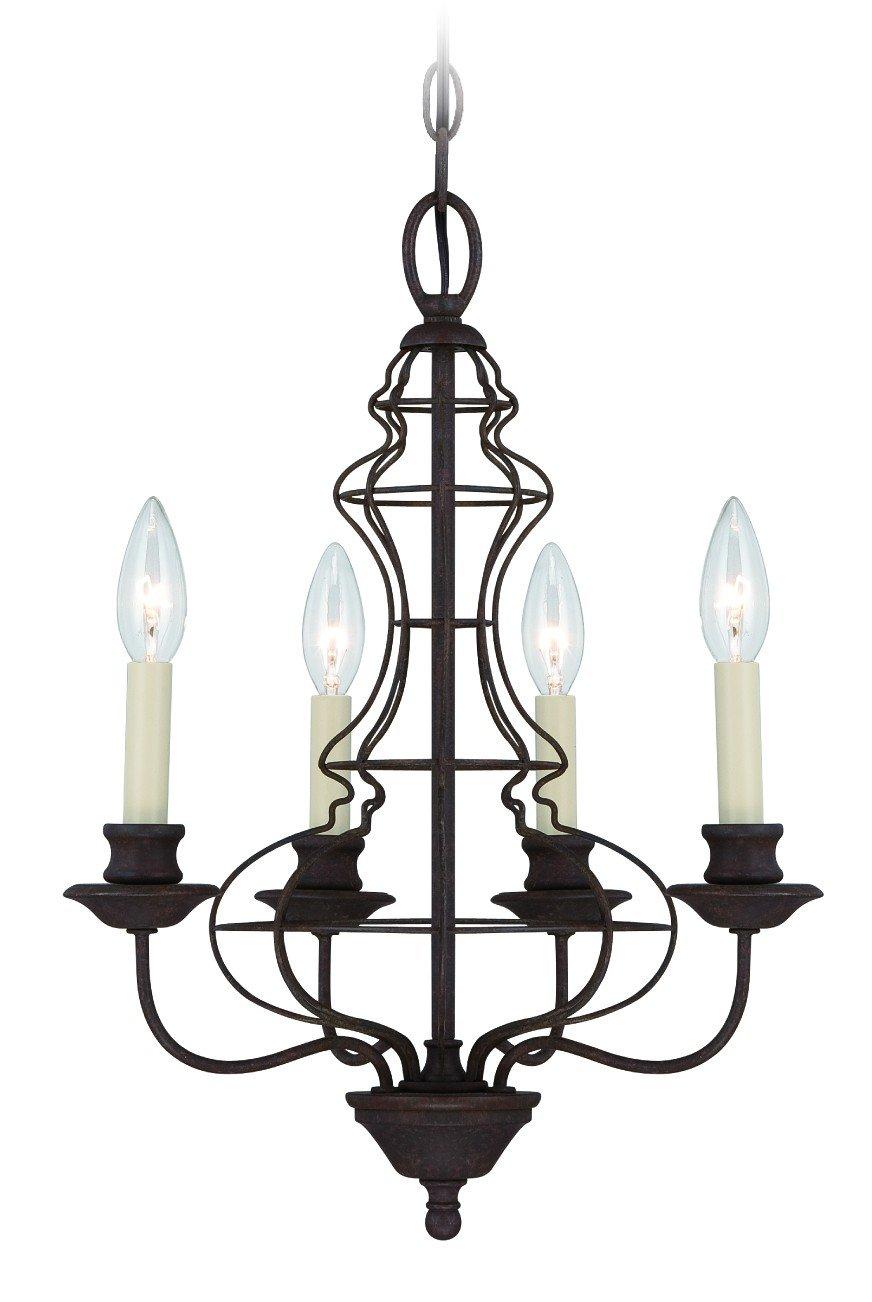 Quoizel QZ/LAILA4A Kronleuchter mit 4 Leuchten, 38,1 x 38,1 x 47cm, Bronze
