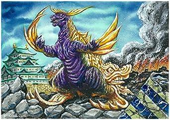 【クリックでお店のこの商品のページへ】Amazon.co.jp | キャンバスアート ご当地怪獣 03 シャチホコング 愛知 P3号 273x190mm | ホビー 通販