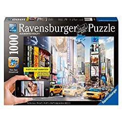 [Best price] Puzzles - Colorful Activity at Times Square Augmented Reality Jigsaw Puzzle, 1000-Piece - toys-games