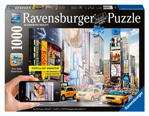 Colorful Activity at Times Square Augmented Reality Jigsaw Puzzle, 1000-Piece