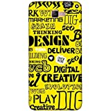 For Samsung Galaxy A5 (2017) Word Pattern ( Word Pattern, Design, Thinking, Good Quotes, Yellow Background ) Printed Designer Back Case Cover By FashionCops