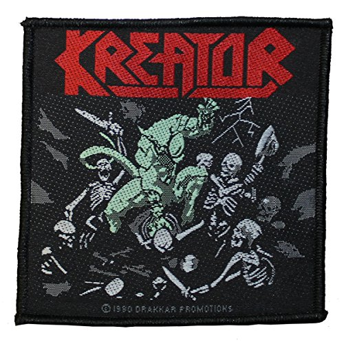 Kreator Logo Pleasure to Kill Patch Tessuto 8,5 x 8,5 cm