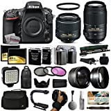 Nikon D810A DSLR Digital Camera with 18-55mm VR II + 55-300mm VR Lens + 128GB Memory + 2 Batteries + Charger + LED Video Light + Backpack + Case + Filters + Auxiliary Lenses + $50 Gift Card + More!