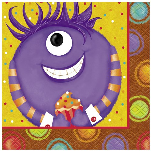 Party Monsters Beverage Napkins, 16ct - 1