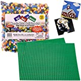Brick Building Mosaic Set by SCS- 2000 Small Single Pieces with 2 Bases and Instructions - Make your Own Pictures that fit with Lego