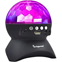 Erligpowht Stage Lights, Rotating Magic Effect Disco Ball Light with Wireless Bluetooth Speaker