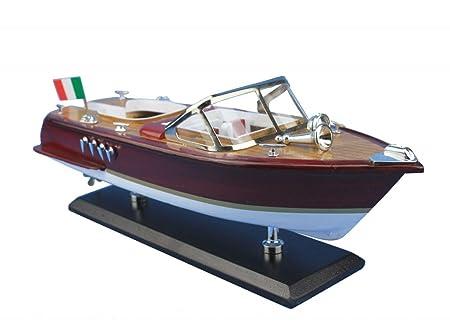Maquette de bateau en bois - Hors-bord italien