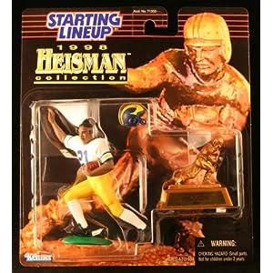 DESMOND HOWARD / UNIVERSITY OF MICHIGAN WOLVERINES * 1998 NCAA College Football HEISMAN COLLECTION Starting Lineup Action Figure, Football Helmet & Miniature 1991 Heisman Memorial Trophy