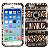 Product B00TSOI60U - Product title MyBat Apple iPhone 6 TUFF Hybrid Phone Protector Cover  - Retail Packaging - Zebra Skin-Leopard Skin/Black