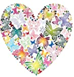 Floral Heart 1 Iron On T-Shirt Transf...
