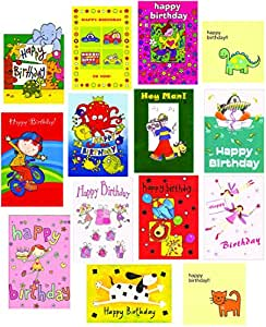 Kids Mixed Birthday & Greeting Cards 14 Cards