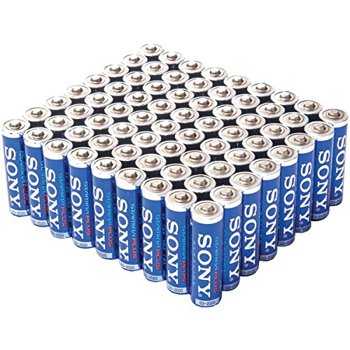 Sony Stamina Plus AA Alkaline Batteries, 72 Count