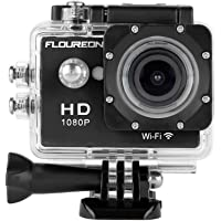Floureon Y8-P Waterproof Wireless Mini WiFi Action Sports Camera (Black)
