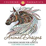 Animal Designs Coloring Book For Adul...