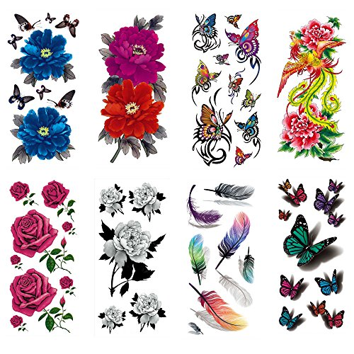 cokohappy-temporary-tattoo-8-different-sheets-rose-peony-flower-phoenix-3d-feather-butterfly-long-la