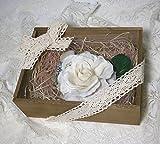 Amazon.co.jp飾れるコサージュ 箱ラッピング付き byシフォンフラワーズ 【京都よりハンドメイドでお届けします】