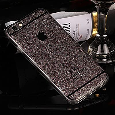 Berry Accessory(TM) Beauty Luxury Hybrid Glitter Bling Soft TPU Shiny Sparkling with Back Plate Cover Case for Apple Iphone 6/6s plus (5.5 Inch)+ Berry logo stand holder ()