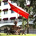 Gartenschirm 2 x 3 m quadratisch wasserabweisend - mit Dreh-Kipp-Mechanismus Ampelschirm Sonnenschirm, Weinrot von Abba Patio auf Gartenmöbel von Du und Dein Garten