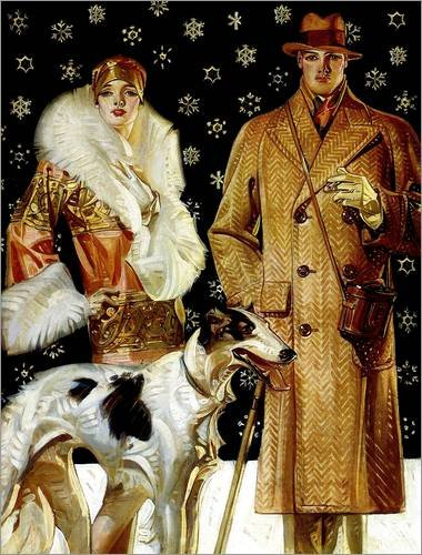 poster-30-x-40-cm-couple-with-a-greyhound-by-joseph-christian-leyendecker-high-quality-art-print-new