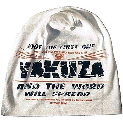Yakuza Beanie unisex mit Print Shoot The First One YB 541 weiss One Size