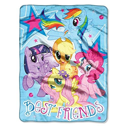 "Hasbro ""My Little Pony, Best Friends"" Micro Raschel Throw, 46 By 60-Inch"