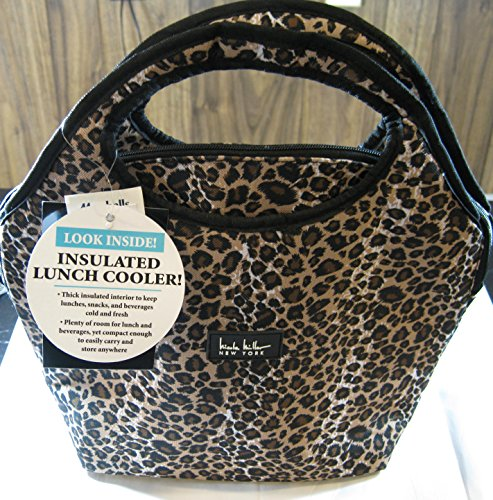 """Nicole Miller Of New York Insulated Lunch Cooler- Cheetah - 13"""" Lunch Tote front-364902"""