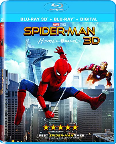 Blu-ray 3D : Spider-Man: Homecoming (With Blu-Ray, Ultraviolet Digital Copy, Widescreen, Dubbed, )