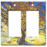 Double Gang Rocker Wall Plate - Van Gogh: Mulberry Tree