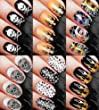 Alternative NAIL DECALS SET 120 DECALS Nail Art Transfer Decal Wrap for False Acrylic Gel or Natural Nails