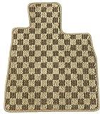Elgan(エルガン) フロアマット(1台分) ドレスアップシリーズ グランデ柄 カフェオレ 日産 ウイングロード 11.05-17.11 WRY,WFY11
