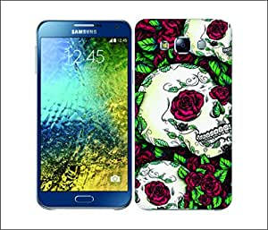 Galaxy Printed 2807 Skull Red Hard Cover for Samsung A7