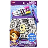 Sofia the First Color N' Style Purse Activity for Girls to Create Their Own Style. Color Your Own Sofia the First Purse with Colorful Permanent Markers and Design with Gem Stickers!