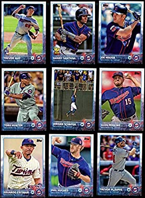Minnesota Twins 2015 Topps MLB Baseball Regular Issue Complete Mint 23 Card Team Set with Joe Mauer, Brian Dozier Plus