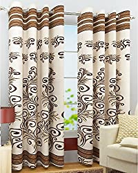 ZYNE 1 Piece Polyester Curtain Panel - 4 x 9 ft, MultiColor