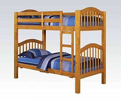 Acme 02359KD Honey Oak Finish Twin/Twin Bunk Bed
