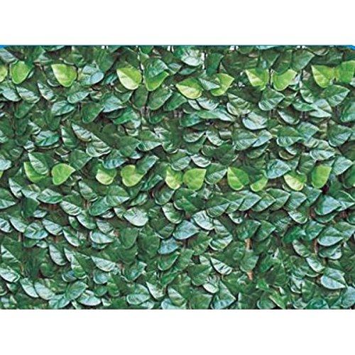 Siepe Artificiale per Balcone Recinzione In Rotolo 1x3 mt (3mq) - 16 Fascette Verdi Da 20 Centimetri